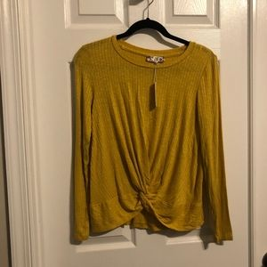 Mustard Yellow Knotted Long Sleeve